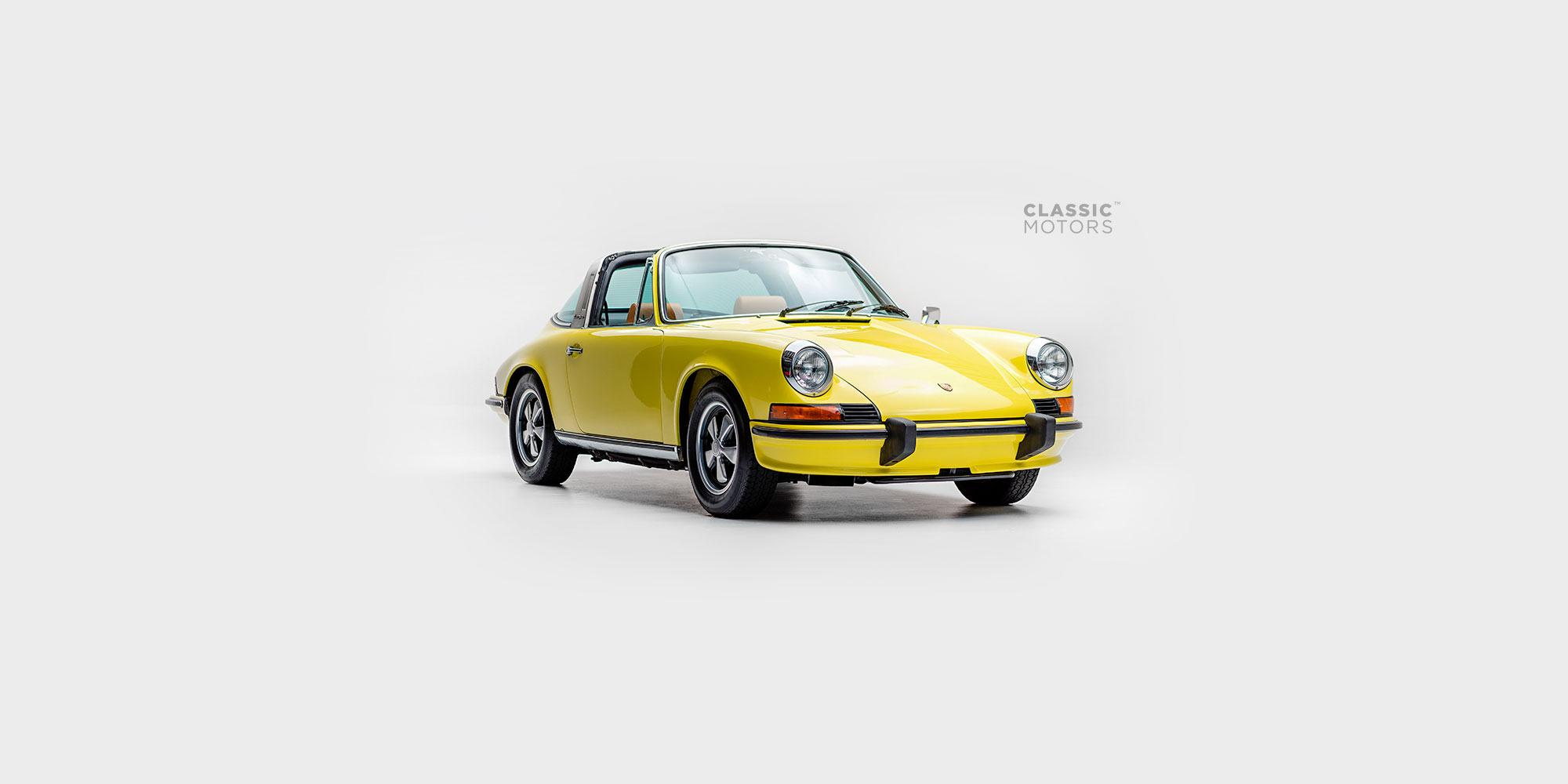1973 Porsche 911e Targa Yellow Juan Rivas 912 Coupe Type Of Engine Automotive Photography Videography And 3d Modeling